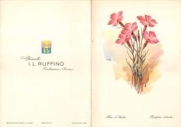 """02207 """"CHIANTI I.L. RUFFINO - PONTASSIEVE (FIRENZE) - FLORA D'ITALIA - GAROFANO SILVESTRE"""" MENU ORIGINALE - Menu"""