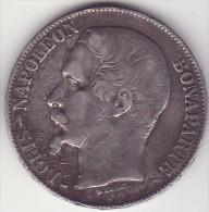 France - �cu - argent - 5 francs 1852 - napol�on III t�te nue