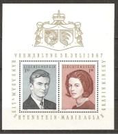 Liechtenstein 1967 - Michel 478/79 - Block 7 ** - Blocs & Feuillets