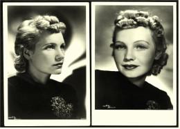2 x die gleiche Film-Schauspielerin  -  Nur welche?  - Wog Verlag Berlin  -  Ansichtskarten ca. 1940    ( 3608)