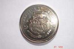 Five Dollar B New Vatican Coins - République Of Libéria 2004. Etat Superbe - Monnaies