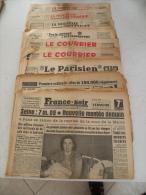 Super Lot 9 Journaux Divert De 1955 Voir Les Titre Sur Photos - Journaux - Quotidiens