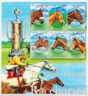 Sierra Leone MNH Sheetlet - Horses
