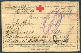 1917 Russia USSR POW Carte Postale Wien Censor Kriegsgefangenen Red Cross