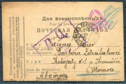 1917 Russia USSR POW Carte Postale Wien Censor Kriegsgefangenen - Moravia - Covers & Documents