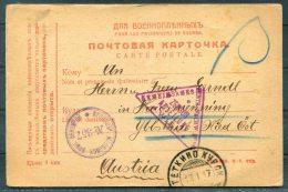 1917 Russia USSR POW Carte Postale Censor Kriegsgefangenen Zensur Wien Austria