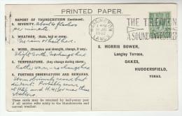 1932 GB COVER WARRINGTON TELEPHONE SLOGAN Pmk Postcard Re METEOROLOGY STORM REPORT Gv Stamps Telecom - Telecom