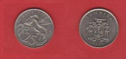 Jamaique //  25 Cents 1989  //  Km # 49  //  état Sup - Jamaica
