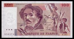 France 100 Francs 1995 UNC - 100 F 1978-1995 ''Delacroix''