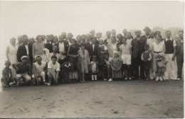 CARTE PHOTO  -  A  identifier  -  Groupe -  Plage  -  Edition Photoplage