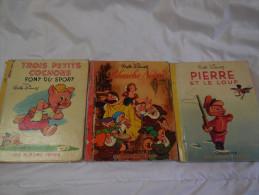 Blanche Neige,pierre Et Le Loup Et Les 3 Petits Cochons - Disney