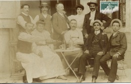CARTE PHOTO  -  A  identifier  -  Commerce - Caf� - Famille