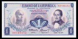 Colombia 1 Peso 1977 P.404f UNC - Colombie