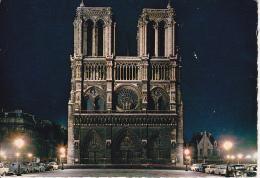CPM Paris - Facade De Notre-Dame Illuminée (17706) - Notre Dame De Paris