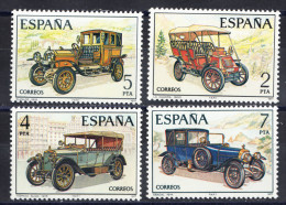 ESPAÑA  1977. EDIFIL Nº 2409/2412.COCHES ANTIGUOS ESPAÑOLES . NUEVA SIN CHARNELA  SES932 - Coches