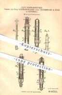 Original Patent - Gust. Schwanhäusser , Grossberger & Kurz In Nürnberg , 1887 , Bleistifthalter , Bleistift , Stift !!! - Schreibgerät
