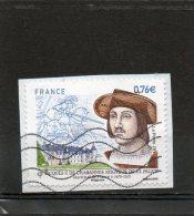"""FRANCE    0,76 €      2015    """" Jacques II De Chabannes""""    Sur Fragment Oblitéré - France"""