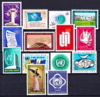 NATIONS UNIES (Geneve) 1969-70 YT N° 1 à 14 ** - Nuevos