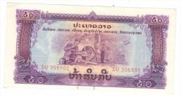 Laos, 50 Kip,  Pathet , Aunc/unc. - Laos