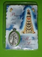 Madonna VIRGO LAURETANA  Santuario LORETO,Ancona - Santino Plastificato  / Medaglietta - Religione & Esoterismo