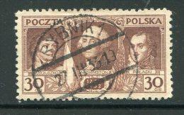 POLOGNE- Y&T N°355- Oblitéré - 1919-1939 Republic