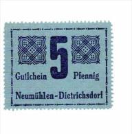 Allemagne Notgeld Neumulhen Ditrichsdorf 5 Pfennig 1921 NEUF - Andere