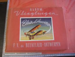 Album Elixir D´Anvers - F.X. De Beukelaer Vliegtuigen Avions 1949 Warplanes 100 Cards, Vooral Wereldoorlog Oorlog 2 - Chocolat