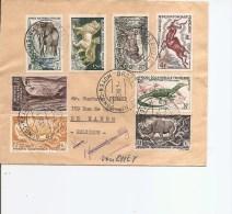 AEF ( Lettre De 1959 De Brazzaville Vers Hamois -en -Condroz En Belgique à Voir) - Covers & Documents