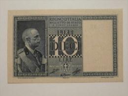 10 Lire Biglietto Di Stato Effige Vittorio Emanuele III° - Italia – 10 Lire