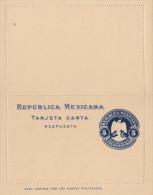 MEXICO 1890? - 5 Centavos Ganzsache ** Auf Kartenbrief Ungelaufen - Mexiko