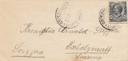 ITALIEN 1922? - 15 Centesimi Auf Brief Gel.n.Escholzmatt Schweiz - Ganzsachen