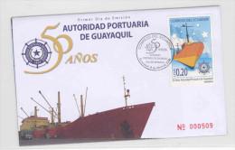 EC - 2008 - ECUADOR   -SCHIFF - SHIP  - FDC - MIT BESCHRIEB - Equateur