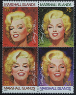 Marshall Islands 1995 Yvertn° 576-79 Mi 593-96 *** MNH Feuillet Cote 30 Euro Marilyn Monroe - Marshall