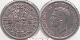 Gran Bretagna ½ Crown 1950 KM#879 - Used - 1902-1971 : Monete Post-Vittoriane