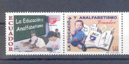 EC - 2002 - 2699-2700 - PAAR - PAIR -ECUADOR - ANALFABETISMO - ** - MNH - POSTFRISCH - Equateur