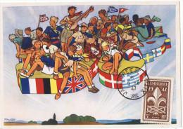 9/8/1947 - JAMBOREE MONDIAL DE LA PAIX  -Scoutisme - Joubert + Yvert & Tellier N° 787 - - Cartes-Maximum