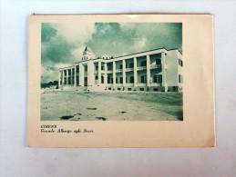 Carte Postale Ancienne Double :LIBYE , LIBIA : CIRENE : Grande Albergo Agli Scavi, Carte Routière - Libya