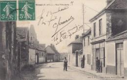 BROUE Rue Principale Carte Peu Courante Circulée Timbrée 1912 - Sonstige Gemeinden