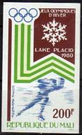 MALI    PA 374  * *  NON DENTELE   Jo 1980  Patinage De Vitesse - Figure Skating