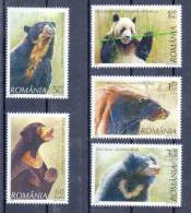 Romania 2008 MNH / Bears / 5 Val - Bears