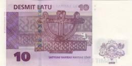 LATVIA P. 54 10 L 2008 UNC - Latvia