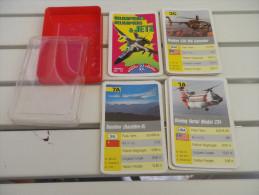 jeu d'ATOUT - QUARTET - HELICOPTERES et JETS - AVIONS