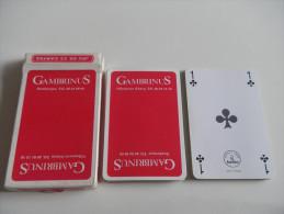 jeu de 32 cartes � jouer - GAMBRINUS - BIERES BRASSERIE - Dunkerque Villeneuve d'Ascq