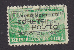 Cuba, Scott #C31, Used, Airplane Overprinted, Issued 1939 - Airmail
