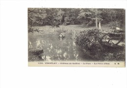 78 - VIROFLAY - Château De Gaillon - Le Parc - La Pièce D´eau - Statue Cabane En Bois  N°1184 E.M. Malcuit édit. - Viroflay