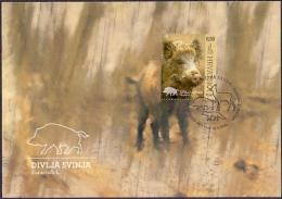Croatia - Wild Boar, Maximum Card, 2015 - Croacia