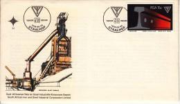 South Africa FDC Scott #502 15c Railroad Rail, ISCOR Emblem - 50th Anniversary ISCOR - FDC