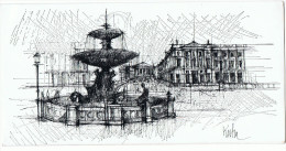 PEC - Potasse Engrais Chimique - Gd-Couronne - KOSHA - Carte Voeux -Place De La Madeleine Et Concorde - Ed. Dia - H.37 - - Nouvel An