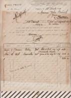 Facture / Courrier 1929 EUGENE FROTTE PONTIVY GRAINS GRAINES - Francia
