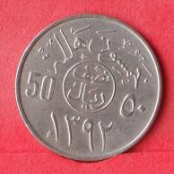 SAUDI ARABIA  50  HALALA  1972   KM# 50  -    (Nº12470) - Saudi Arabia
